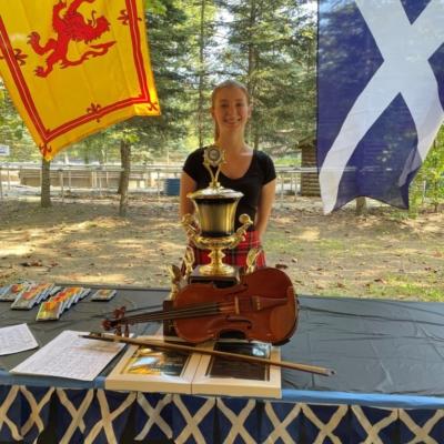 Emma Dorman  -2021 Senior Open winner plus winner of the St Andrew's Fiddler of the Day